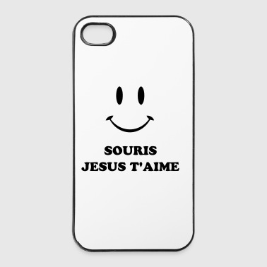 Catholique souris jesus t'aime - Coque rigide iPhone 4/4s