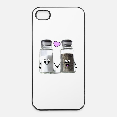 Engagement Cute salt and pepper love - we go together Buttons - iPhone 4 & 4s Case