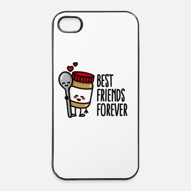 Affamato Best friends forever peanut butter / spoon BFF - Custodia rigida per iPhone 4/4s