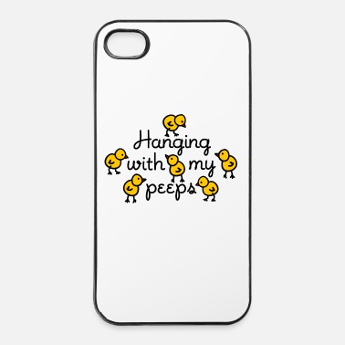 Kip Hanging with my peeps - Kuikens Pasen - iPhone 4/4s hard case