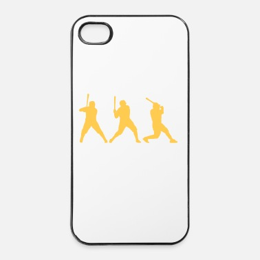 Staking baseball_spieler_1_farbig - iPhone 4/4s hard case