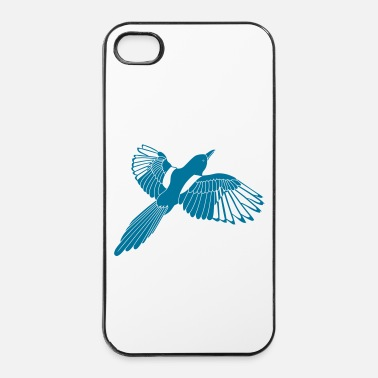 Einfache Elster - iPhone 4/4s Hard Case