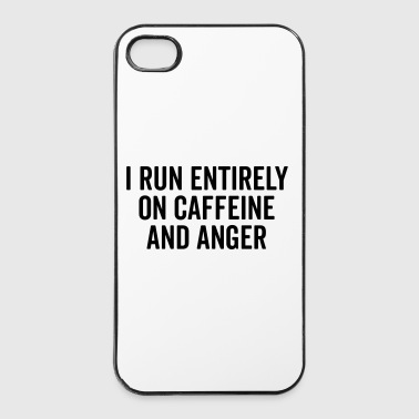 Caffeine And Anger Funny Quote - iPhone 4/4s Hard Case