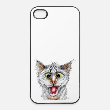 Encre Chat - Happy Cat - Coque rigide iPhone 4/4s