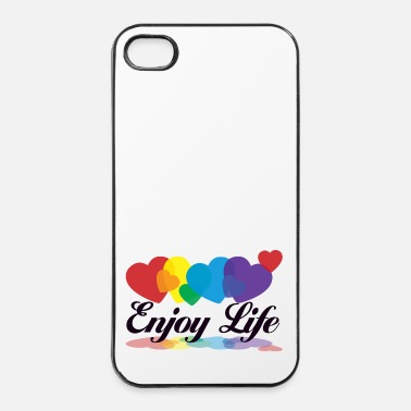 Terveys rainbow enjoy life - iPhone 4/4s kovakotelo