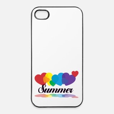 Ballon rainbow summer - iPhone 4/4s hard case