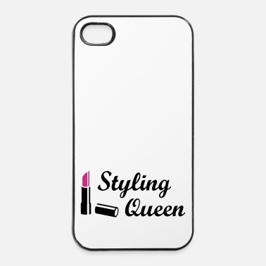 Style Styling Queen * Design Style Fashion huulipuna - iPhone 4/4s kovakotelo