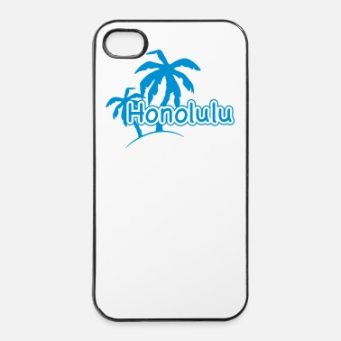Strand Honolulu Hawaii vakantie palm beach 1c - iPhone 4/4s hard case