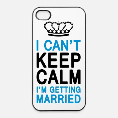 Bruid I CAN'T KEEP CALM I'm getting MARRIED (1c or 2c) - iPhone 4/4s hard case