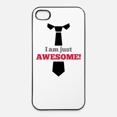 Cravatta Awesome - Custodia rigida per iPhone 4/4s