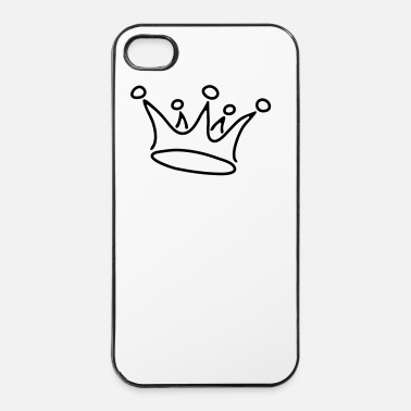 Regno crown_gold_g1_2c - Custodia rigida per iPhone 4/4s