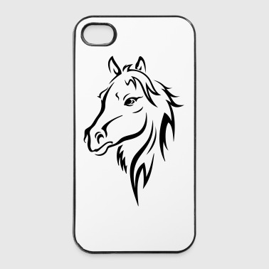 Paarden HORSE HEAD - iPhone 4/4s hard case