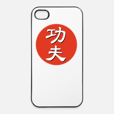 Champion red kungfu white - Coque rigide iPhone 4/4s