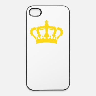 Brillante corona, limitata, crown, g1_4c - Custodia rigida per iPhone 4/4s