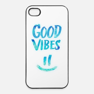 Rasta Good Vibes - Funny Smiley Statement / Happy Face - Custodia rigida per iPhone 4/4s