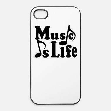 Jazz Music is Life. Musica note. Musicista musica.  - Custodia rigida per iPhone 4/4s