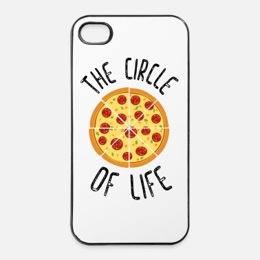 Pizza The Circle Of Life Funny Quote - iPhone 4/4s kovakotelo
