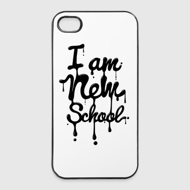 I am new school (Swag,Dope,Hipster) - Coque rigide iPhone 4/4s
