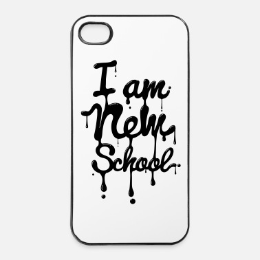 School I am new school (Swag,Dope,Hipster) - iPhone 4/4s hard case