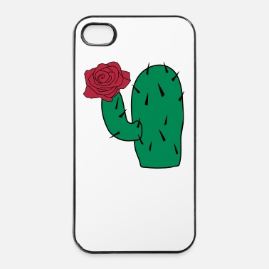 Leaf Cactus_en_roos_cc22 - iPhone 4/4s hard case