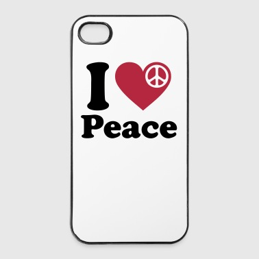 peace fred flower power Woodstock  Hippie 70talet - Hårt iPhone 4/4s-skal