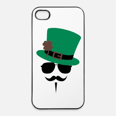 Anonymous Go Green Moustache - iPhone 4/4s kovakotelo