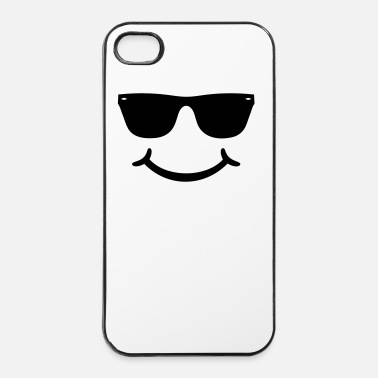 Sunglasses Happy smile with sunglasses - Be HAPPY face - iPhone 4 & 4s Case