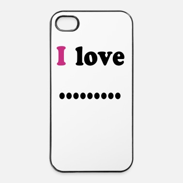 Écriture I love dot - Coque rigide iPhone 4/4s