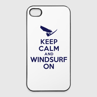 Keep calm and windsurf on - Coque rigide iPhone 4/4s