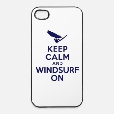 Palmiers Keep calm and windsurf on - Coque rigide iPhone 4/4s