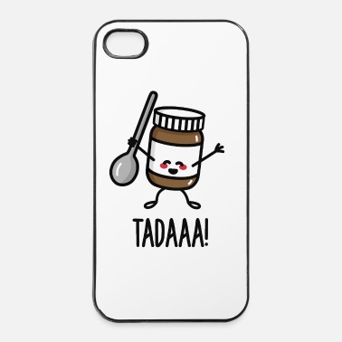 Affamato Tadaaa! Happy chocolate spread with spoon - Custodia rigida per iPhone 4/4s