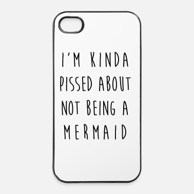 Rude Not Being A Mermaid Funny Quote - Coque rigide iPhone 4/4s