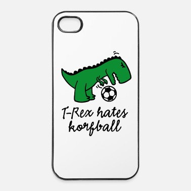 Jeter T-Rex hates korfball ballon dinosaure marrant  - Coque rigide iPhone 4/4s