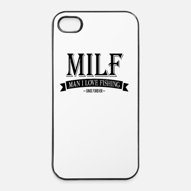 Man MILF / Man I Love Fishing / black - iPhone 4/4s hard case