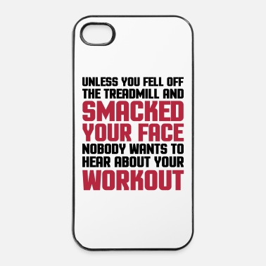 Slogan Hear About Your Workout  - Hårt iPhone 4/4s-skal