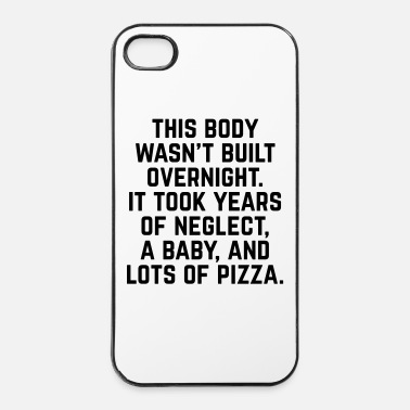 Pizza Years Of Neglect Funny Quote - Custodia rigida per iPhone 4/4s