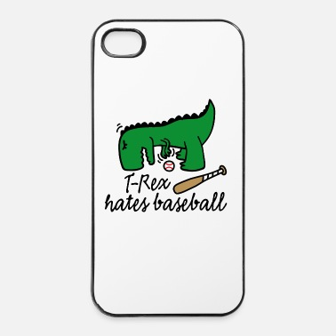 Fan T-Rex hates baseball dinosaurus honkbal speler - iPhone 4/4s hard case