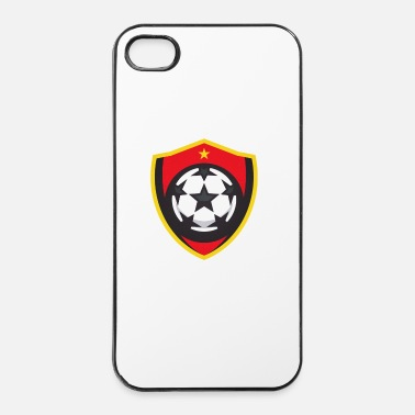 Crête Football / Soccer Minimal logo / crest / Falg - Coque rigide iPhone 4/4s