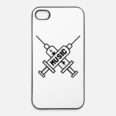 Rock N Roll Music Is My Drug - Love Music - Straight Edge  - Coque rigide iPhone 4/4s