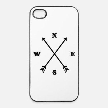 Modern Boussole Hipster / Croix - Moderne Trendy Outfit  - Coque rigide iPhone 4/4s
