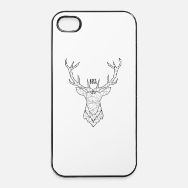 Cerf Cerf Hipster - Coque rigide iPhone 4/4s