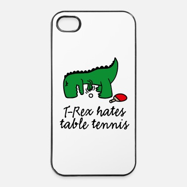 China  T-Rex hates table tennis ping pong tafeltennis - iPhone 4/4s hard case