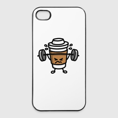 Strong coffee - lift workout - iPhone 4/4s Hard Case