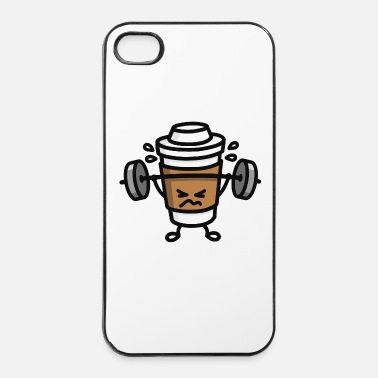 Pièce Strong coffee - lift workout - Coque rigide iPhone 4/4s