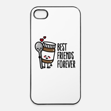 Affamato Best friends forever chocolate spread / spoon BFF - Custodia rigida per iPhone 4/4s