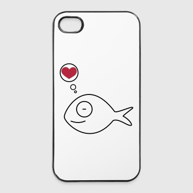 Paare verliebter Fisch - iPhone 4/4s Hard Case