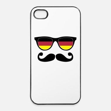 Sir german mustache glasses nerd - like a sir - Hårt iPhone 4/4s-skal