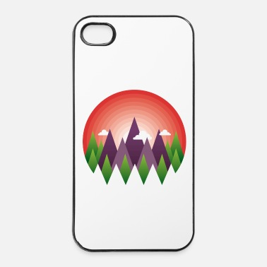 Bio geometric mountain sunrise - Coque rigide iPhone 4/4s