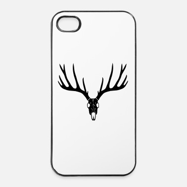 Cornes cerf ramure bois corne cornes animal sauvage chass - Coque rigide iPhone 4/4s