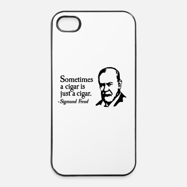 Fumeur Sometimes a cigar is just a cigar Sigmund Freud - Coque rigide iPhone 4/4s